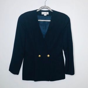 VTG Christian Dior Cinched Waist Wool Blazer